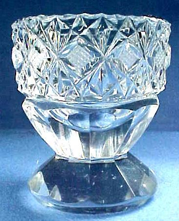 Victorian English Cut Glass Pedestal Egg Cup