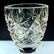 Beautiful Victorian Cut Glass Pedestal Egg Cup