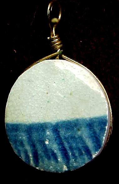 Pendant Fashioned from Antique Pottery Shard