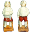 Victorian Boy and Girl Figurines Hand Painted