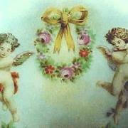 SALE Victorian Plate with Cherubs or Angels Silesia