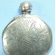 Victorian Silver Purse Perfume with Engraved Design