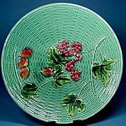 Majolica Plate with Cherries and Berries Zell
