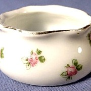 Open Salt with Roses Austrian Porcelain 1899-1918
