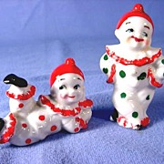 SALE Pair Of Old Japan Clown Figures