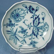 Blue Onion Porcelain Butter Pat