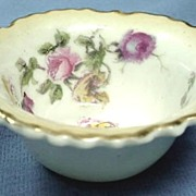 George Jones Open Salt Porcelain with Roses