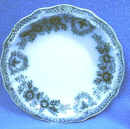 Antique Flow Blue Porcelain Butter Pat