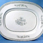 Large Transfer Printed Platter in the Grecian Design 1816-65
