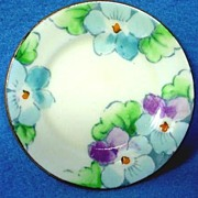 Gorgeous Hand Painted Porcelain Miniature Plate C1906
