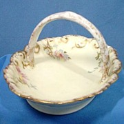 Limoges Hand Decorated Porcelain Basket