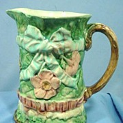 Victorian Majolica Pitcher Gorgeous