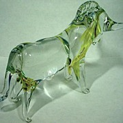 SALE Venetian Glass Figure of a Bull