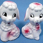 Cute Pink Poodle Salt and Pepper Shakers
