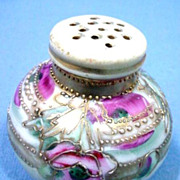 Nippon Style Salt and Pepper Hand Painted Famille Rose