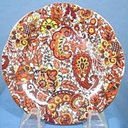 SALE Pretty English Chintz Plate in the Paisley Design Vintage