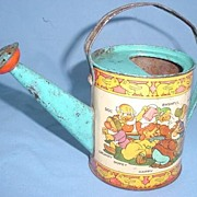 Walt Disney Enterprises Tin Litho Watering Can 1938