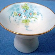 Signed Hand Painted Porcelain Sauce Dip Superb
