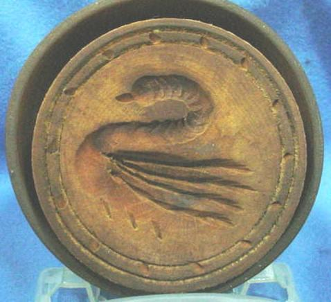 Old Wooden Butter Mold with Carved Swan