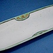 Art Deco Ceramic Pen Tray Signed and Hand Painted
