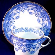 Art Nouveau Cup and Saucer English Fine China 1890
