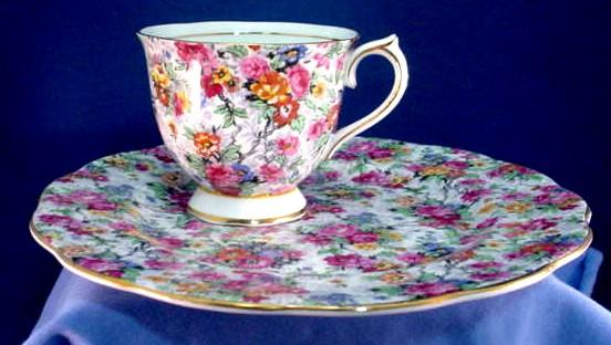 Royal Albert Chintz Snack Set or Tea and Toast