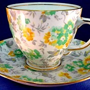 Chintz Cup and Saucer Vintage 1940s