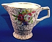Chintz Creamer with Roses and Art Deco Influence