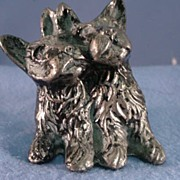 Pair of Scottie Dogs Cast Metal