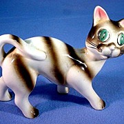 SALE Ceramic Cat Figure Hand Painted Adorable