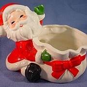 Santa Cache Pot or Candy Container