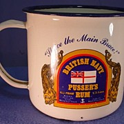 Enamelware Advertising Mug British Navy Pusser�s Rum