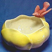 Royal Copley Flower Bowl Vase with Perched Bird