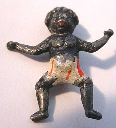 Victorian Mini Lead Figure of Black Child