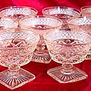 Imperial Glass Cape Cod Sherbets set of Eleven