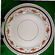 Victorian Side Plates with Swags of Hand Painted Roses Set of 6