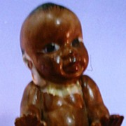 Vintage Pottery Black Baby or Toddler Figure