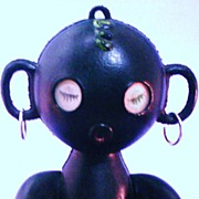 Black Memorabilia Crib Toy Golliwog or Zulu Girl Doll.