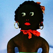 Vintage Golliwog Cloth Doll with Curly Hair