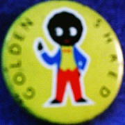 Golliwog Promotional Pin Back Button Robertson�s