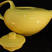 Russel Wright Stoneware China Tea Pot in Lemon Yellow
