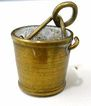 Doll House Miniature Brass Bucket