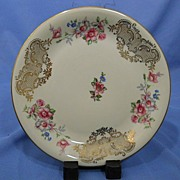 Bavarian Porcelain Plate with Floral  Decoration