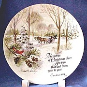 SALE Collectors Christmas Plate by Robert Laessig Vintage 1974