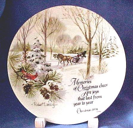 Collectors Christmas Plate by Robert Laessig Vintage 1974