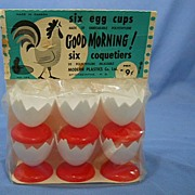 Egg Cups Vintage Set of 6 in Original Package