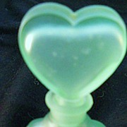 SALE Satin Glass Perfume with Heart Shaped Stopper