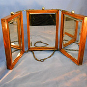 Tri-Fold Victorian Travel Mirror