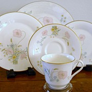 Royal Doulton Fine China Flirtation 6  Five piece Settings with Poppies & Daisies.