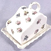 Antique Victorian Miniature Porcelain Doll's or Child's, Covered Cheese Dish